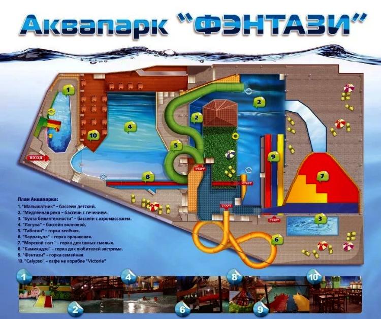 аквапарк в Марьино, карта