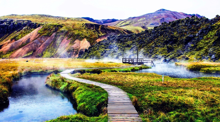 горячий источник Ландманналаугар Исландия