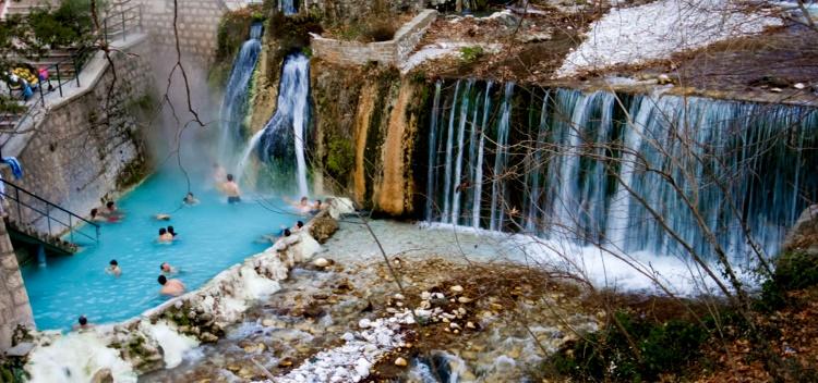 термальные источники в Греции Лутраки,